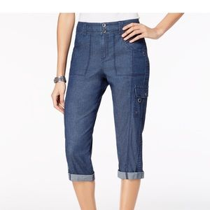 Style & Co Cropped Cargo Capri